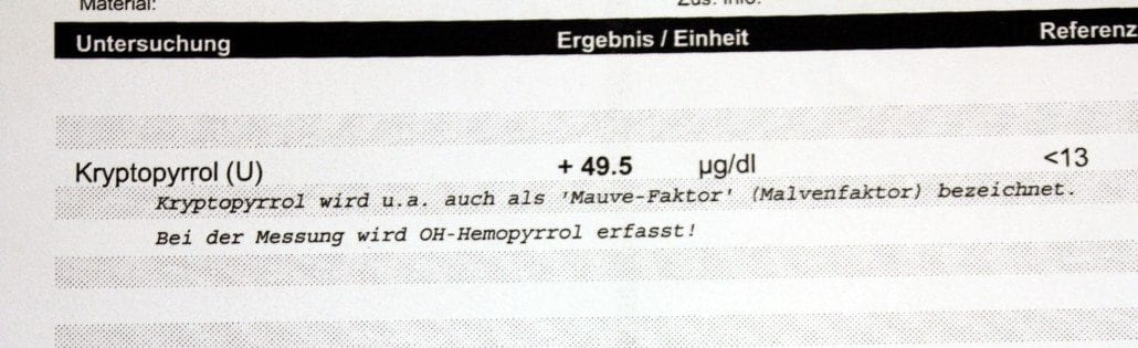kryptopyrrolurie test laborwert