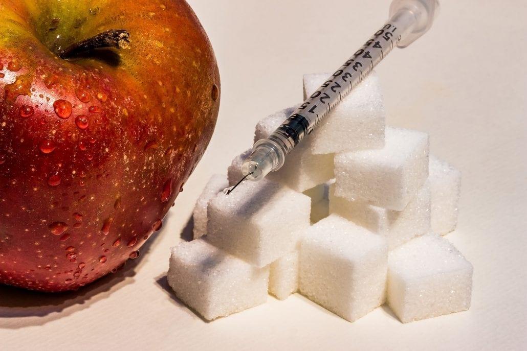 Zucker und Apfel