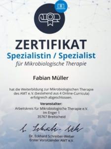 zertifikat Mikrobiologie